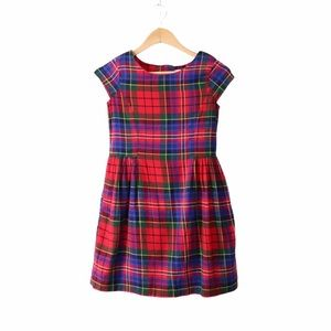 GAP kids plaid flannel dress XL 12